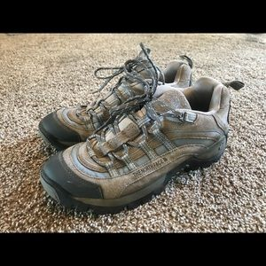Lightly worn North Face hiking boots